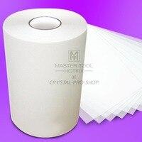 330 feet x 9.5 Inch Hot fix Transfer Film Mylar Tape Paper Hotfix Rhinestones Iron On Applicator Crystal Nail design DIY Tools