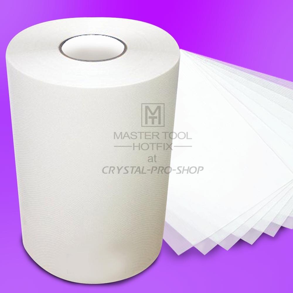 330 pieds x 9.5 Pouce Hot-fix Transfert Film Mylar Bande papier Correctif Strass Fer Sur Applicateur Cristal Nail design DIY outils