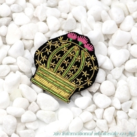 New Fashion Design Metal Wire Slovakia Handmade Embroidery Badge Potted Cactus Flower Rozet Clothes Bag Gremio