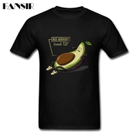 Men T Shirt Funny 100 Cotton Short Sleeve Tee Shirts Men Avocado Abs Workout Group Clothes