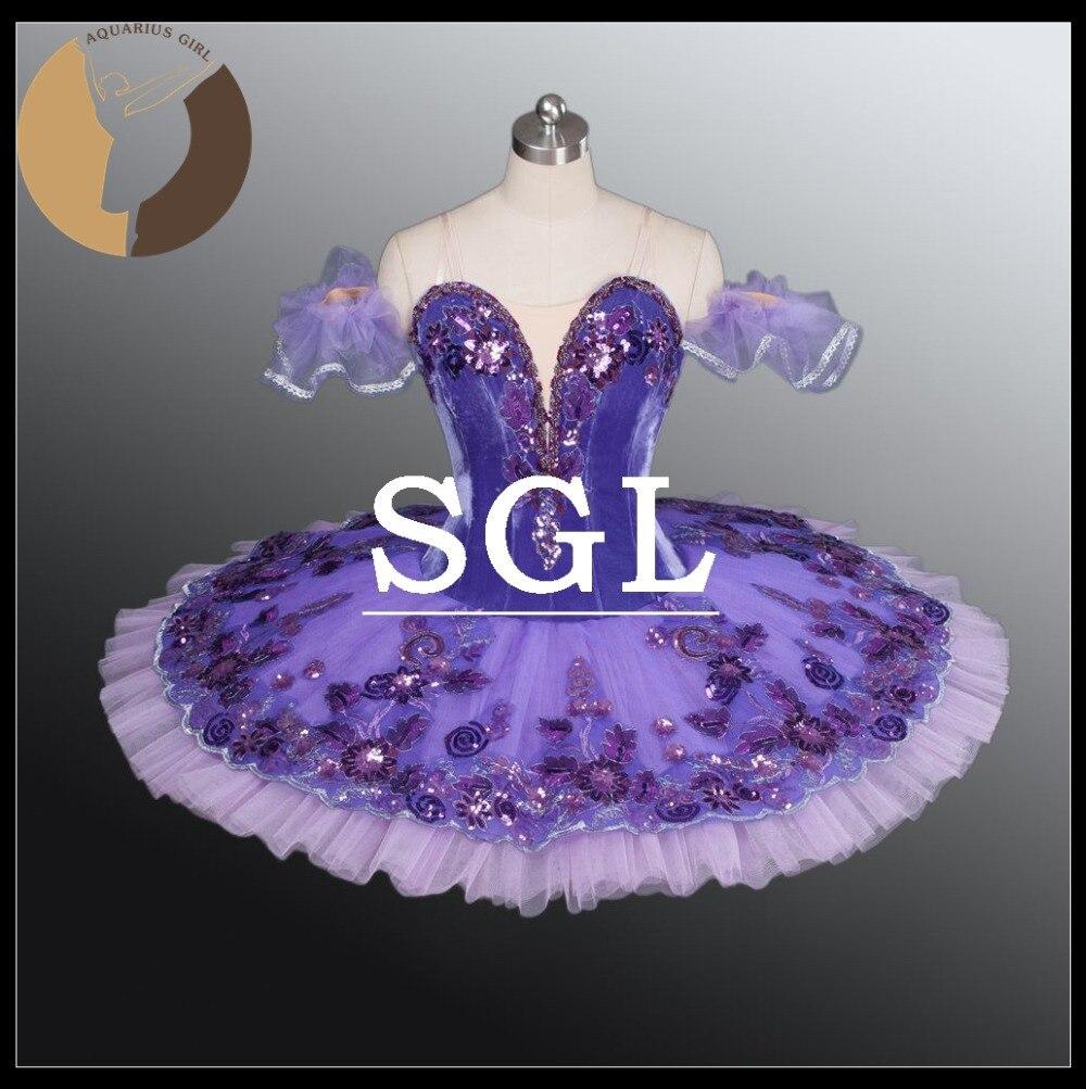Adulte Pourpre Tutu Jupes Femmes Professionnel Ballet Tutus Pour Spectacle De Danse Costume de Scène Pour Espagnol Dnace Lilas Fée AT1163
