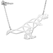 My Shape High Quality Stainless Steel Hollow Animal Dinosaur Pendant Decorate Necklaces