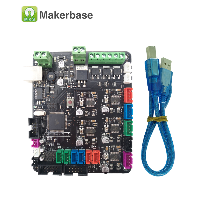 3D Printer Main Board MKS BASE  V1.6 Integrated Motherboard Compatible Mega 2560 & RAMPS 1.4 Control Board RepRap Mendel
