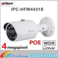 Dahua Angielski IPC-HFW4431S 4MP H.265 IP67 Wodoodporna HFW4431S POE 30 M IR WDR Kamera Sieciowa Mini Bullet