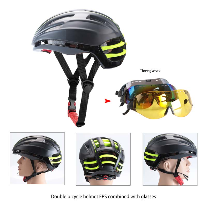 Goggles Cycling Helmet Insect Net Mountain MTB Road Bike Bicycle Helmets 2017 Cycling Helmet With Lens black and green color велосипед haro flightline one 2013