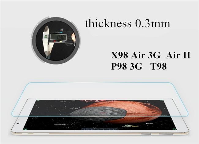2pcs / lot X98 זכוכית זכוכית מגיני מסך עבור Teclast P98 3G ליבה Core / X98 AIR II V989 מגן זכוכית מסך מגן