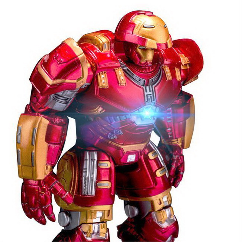 NEW Marvel Avengers 3 Iron Man Hulkbuster Armor Joints Movable Dolls Mark With LED Light PVC Action Figure Collection Model Toy