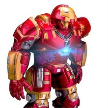 NEW Marvel Avengers 3 Iron Man Hulkbuster Armor Joints Movable dolls Mark With LED Light PVC Action Figure Collection Model Toy egg attack eaa 036 iron man 3 mark 42 mk xlii pvc action figure collectible model toy with led light