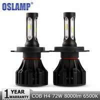 Oslamp H4 LED Headlight Bulbs COB Car Led Bulb Hi Lo 72W 8000lm Auto Headlamp Fog