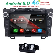 Camera Quad Core Android 6.0 Car DVD Player For Honda CRV 2006 – 2011 with GPS Navigation Radio RDS Built-in 3GWiFi DVR 1024*600