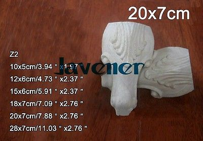 Z2 -20x7cm Wood Carved Onlay Applique Carpenter Decal Wood Working Carpenter Leg Decoration