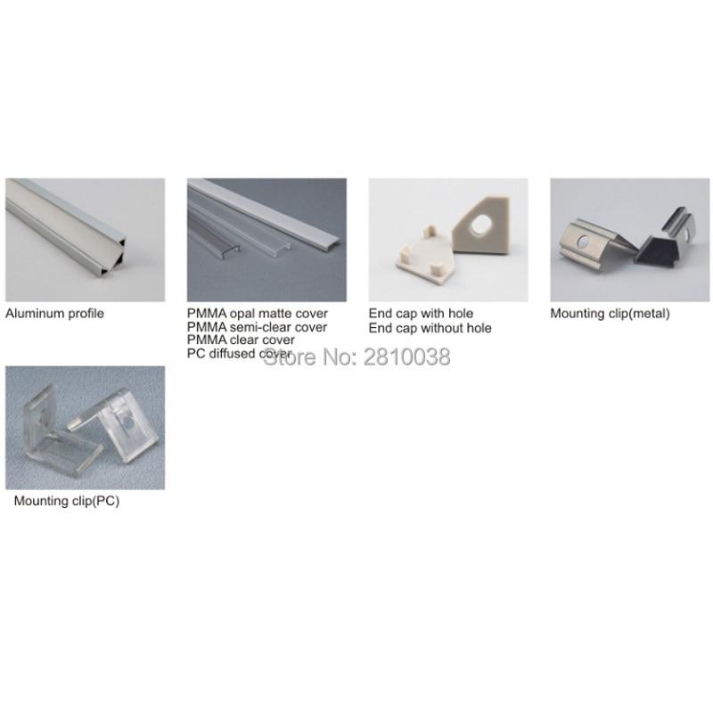 10 X 1M Sets/Lot 30 Degree Angle Aluminiumprofil led leisten and Anodised Aluminium profile led for Cabinet or kitchen lights