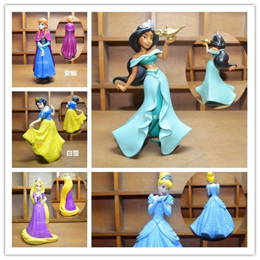 Results Of Top Tangled Figure In Nadola Rapunzel 5pcs Lot Snow White Jasmine Princess Action Figures Anime Kids Toys For Girls Children
