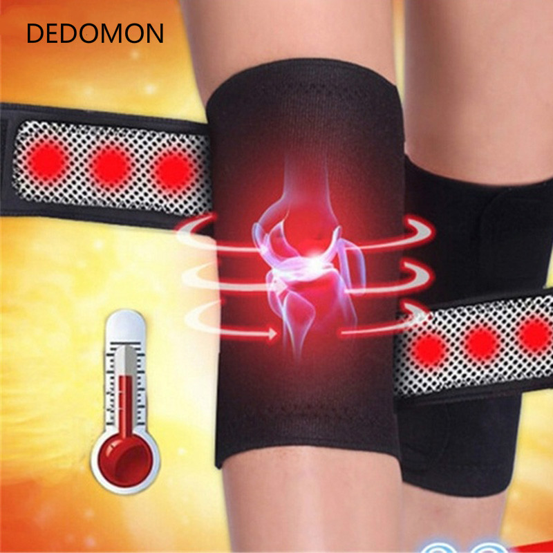 2PCS Knee Brace Support Pads Adjustable Tourmaline self-heating magnetic therapy Knee Protective Belt Arthritis Knee Massager