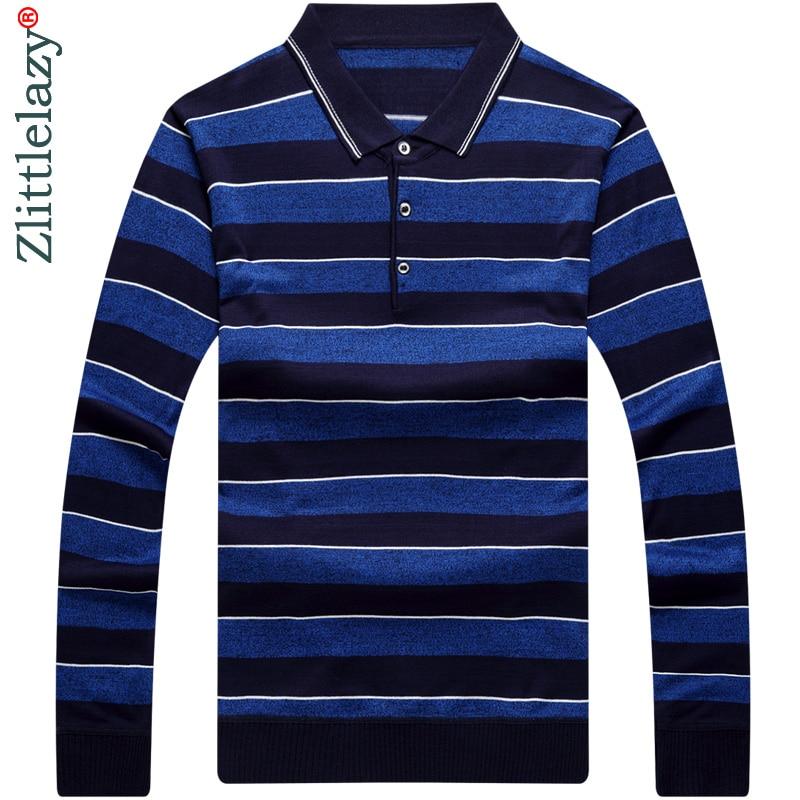 Mens Luxury Long Sleeve Shirt Casual Slim Fit Stylish ...   Men Polo Long Sleeve Dress