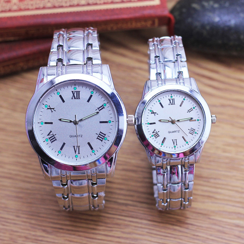 CYD Famous Men Women Couples Mother Father Gifts Roman Numer Quartz Wristwatches Luminous Hand Stainless Steel Watch Religious
