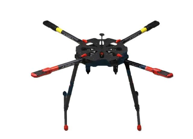 Kit de armazón de cuadricóptero con patín de aterrizaje electrónico para Dron teledirigido, fibra de carbono plegable, F11282, Tarot TL4X001 X4