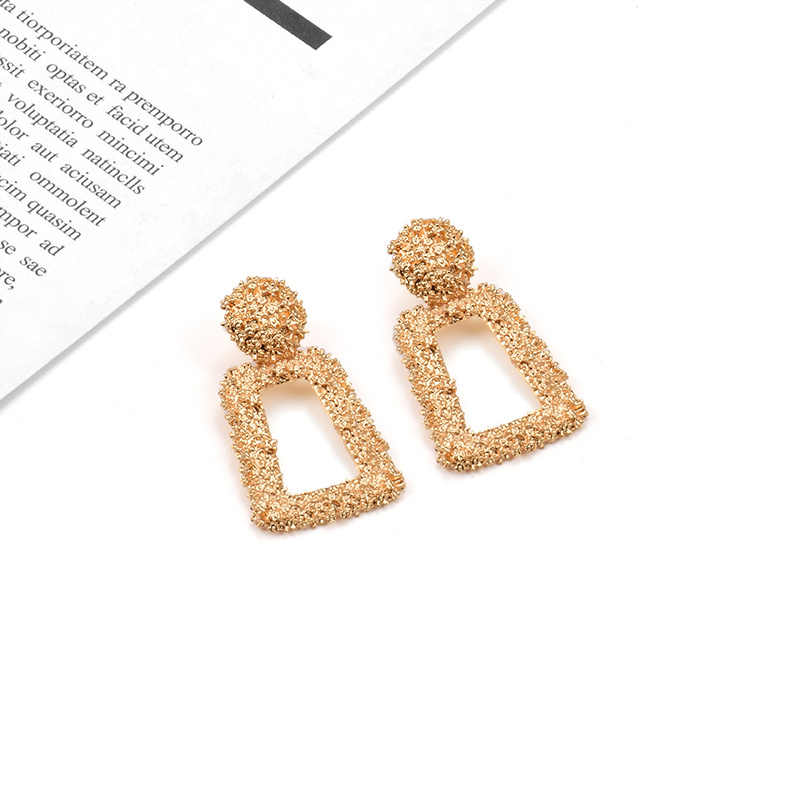 New Metal Gold Drop Earrings 2019 ZA Hot Sell Brincos Bijoux Popular style High Quality  Earrings Jewelry For Women Wholesale