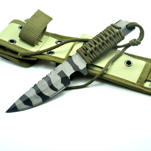 Hot High Quality Tactical font b Knife b font Fixed Blade camouflage Sheath Camping font b