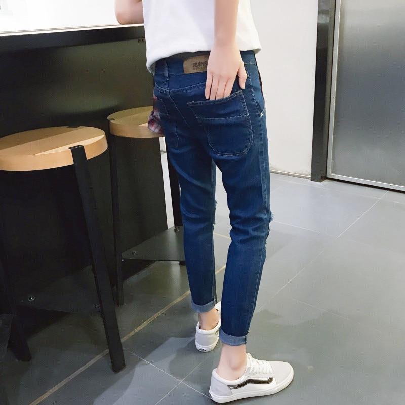 2018 Brand Designer Slim Fit Ripped Jeans Men Hi-Street Mens Distressed Denim Joggers Knee Holes Washed Destroyed Jeans