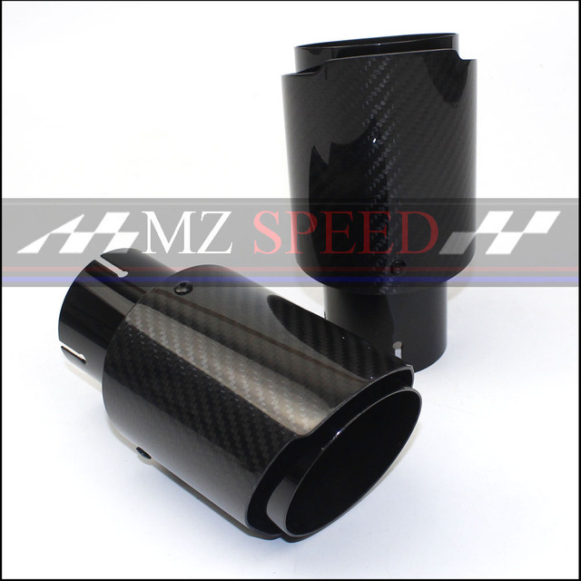 car styling Styling Glossy+ stainless steel Muffler End Pipe exhaust pipe muffler For Universal Carbon Exhaust Tips
