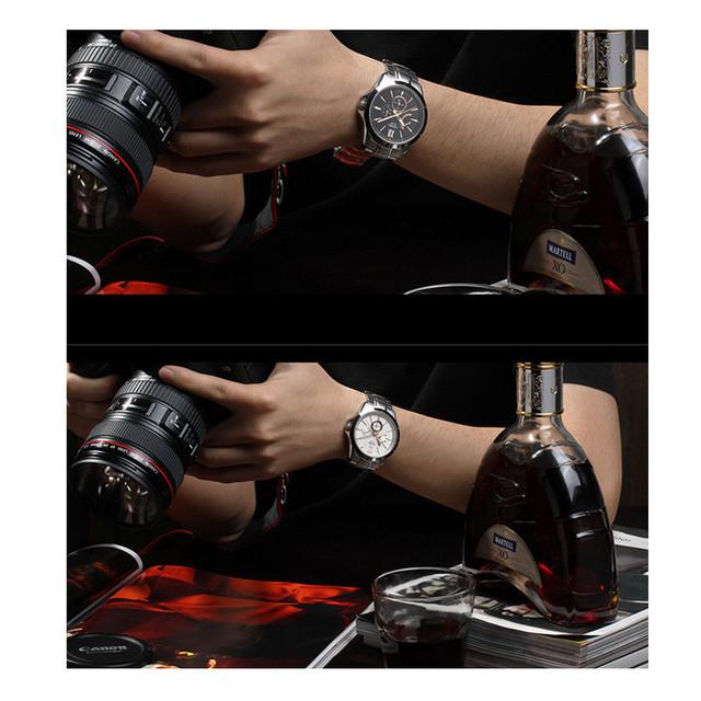 SINOBI Watch Men Watch Mens Watches Top Brand Luxury Waterproof Full Steel Watches Hour Clock relogio masculino reloj hombre