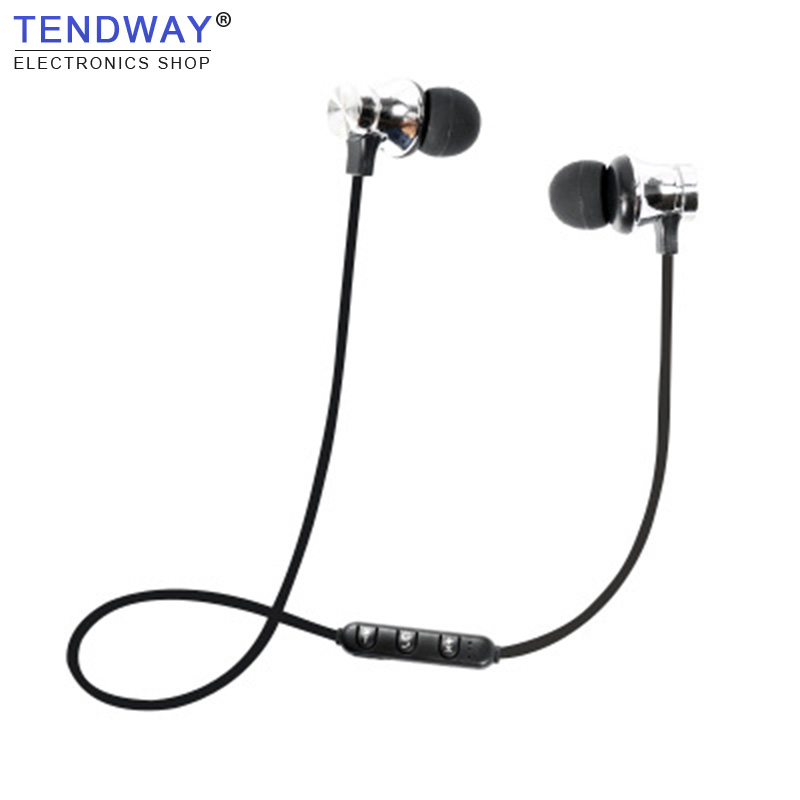 Tendway Sports Bluetooth Earphone Magnetic Running In-ear Wireless Earphones Fashion Stereo Music headset Hands Free with Mic
