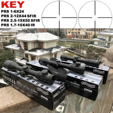 Hot New Brand Optical Sight PRS 1.7-10X40IR Riflescope Optics Rifle Hunting optical Red dot Green Hunter Gun Accessory