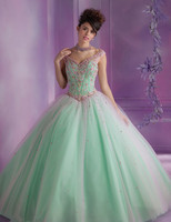 New Green 2018 Quinceanera Dresses For 16 15 Years V Neck Ball Gown Prom Dress Luxury Beaded Bodice vestido de festa longo