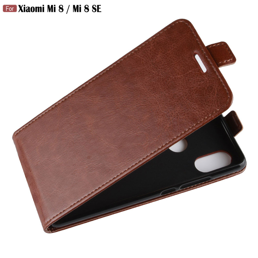 JFVNSUN For <font><b>Xiaomi</b></font> <font><b>Mi</b></font> <font><b>8</b></font> SE <font><b>Case</b></font> Retro Leather Silicone Magnetic <font><b>Vertical</b></font> Wallet Flip <font><b>Case</b></font> For <font><b>Xiaomi</b></font> <font><b>Mi</b></font> <font><b>8</b></font> mi8 SE Cover Phone Bag image