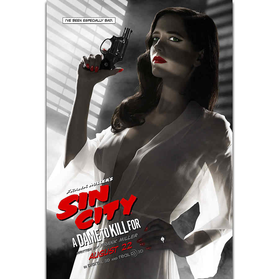 S2032 Sin City A Dame to Kill For Eva Green Quentin Tarantino Movie Wall Art Painting Print On Silk Canvas Poster Home Decor