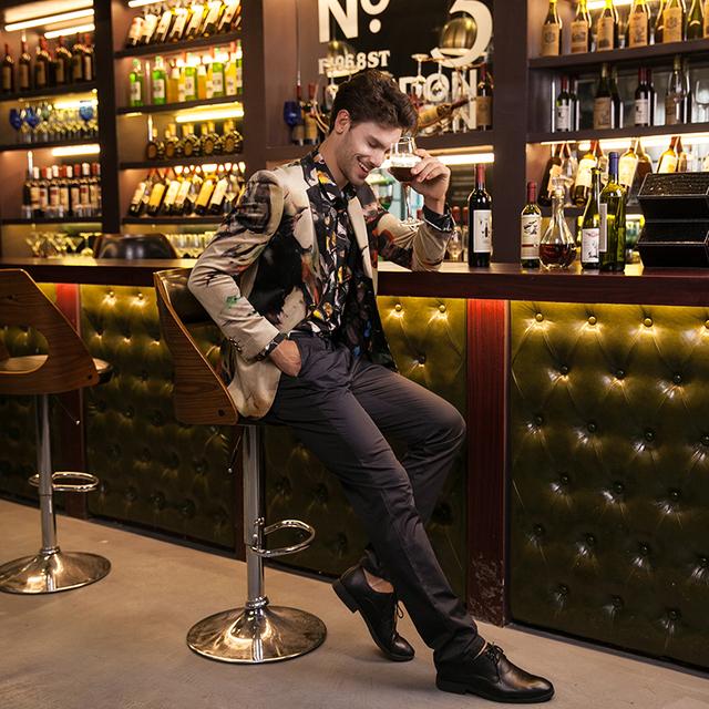 Blazer Men 2016 Designer Colorful Mens Blazer Jacket Italian Suits Brands Fancy Suits For Men Party Prom Wedding Dress Q202