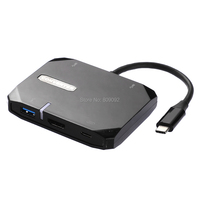 High Speed Type C to HDMI 5 in 1 3 point USB3.0 Adapter for MacBook Samsung Huawei usb c Converter Adapter