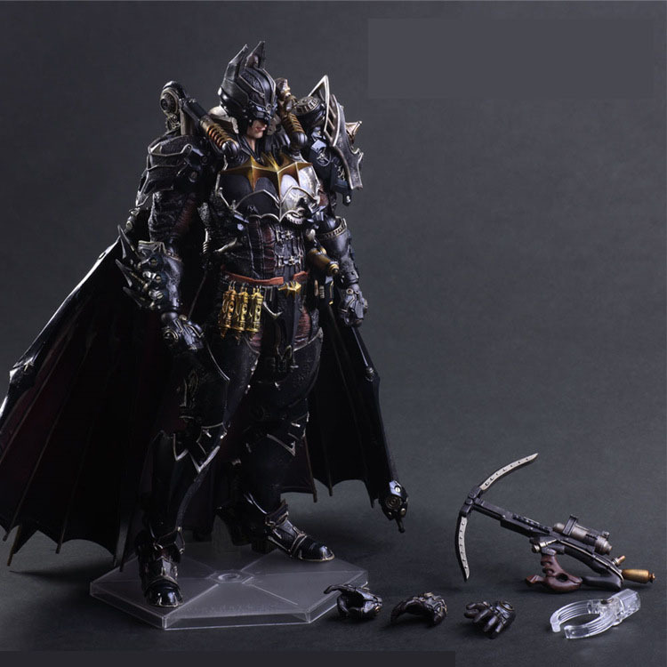Steampunk Batman Play Arts Kai Action Figure PVC Toys 270mm Anime Movie Model Steampunk Bat Man Playarts Kai J01 halo 5 guardians play arts reform master chief action figure