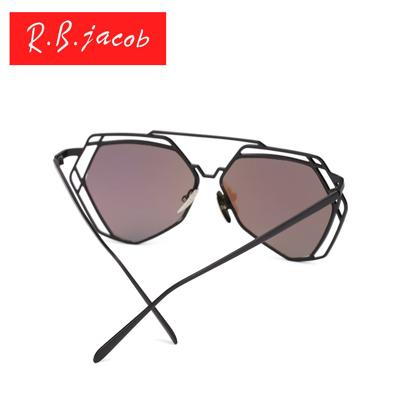 Brand Designer New Big Mirror Sunglasses Women Hexagon Lovers Hippie UV400 Pilot Hollow Out Sun Glasses Good Quality Oversized