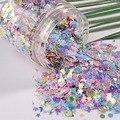 10 gr/paket Mix Makronen Farben Nagel Pailletten Für Handwerk Glitzernde Sterne Herz Sakura Pailletten Pailletten DIY Maniküre Nail art Decor-in Pailletten aus Heim und Garten bei