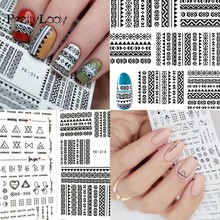 hot deal buy focallure 1 sheet nail art water transfer stickers mixed designs beauty watermark on nails tips decals wraps nail art tools