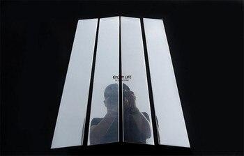 4 قطع نافذة B عمود الغلاف تريم لوحة لمرسيدس بنز W213 الفئة E 2016 2017