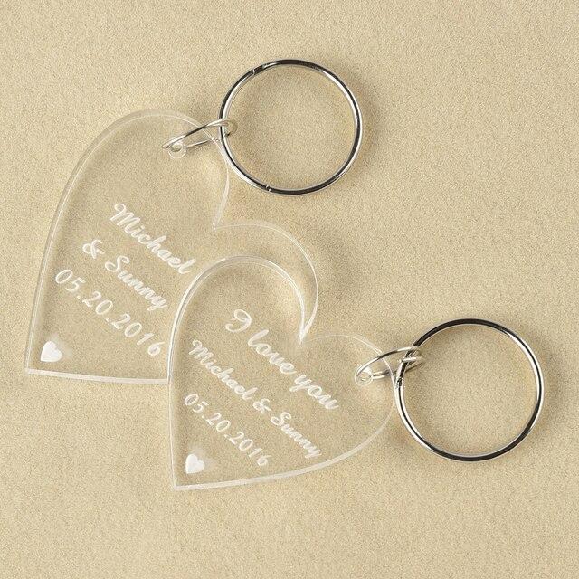 Gravur Klar Hochzeit Liebe Herz Schlüsselanhänger Schlüsselanhänger Valentinstag  Geschenk Freund Präsentieren Gefälligkeiten