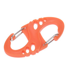 8-Shaped Camping Mountaineer Kettle Buckle Hanging Hook Backpack Tactical Mini Portable Keychain Metal Carabiner Outdoor Tools
