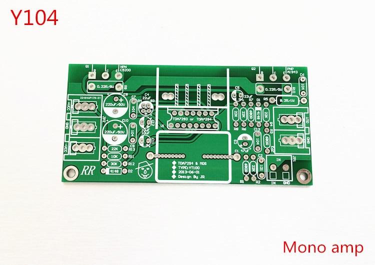 pcb board only  hifi mono amplifier  adjustable class a  tda7294 push the discrete tube  2sc5200 2sa1943 70w lige horloge 2017