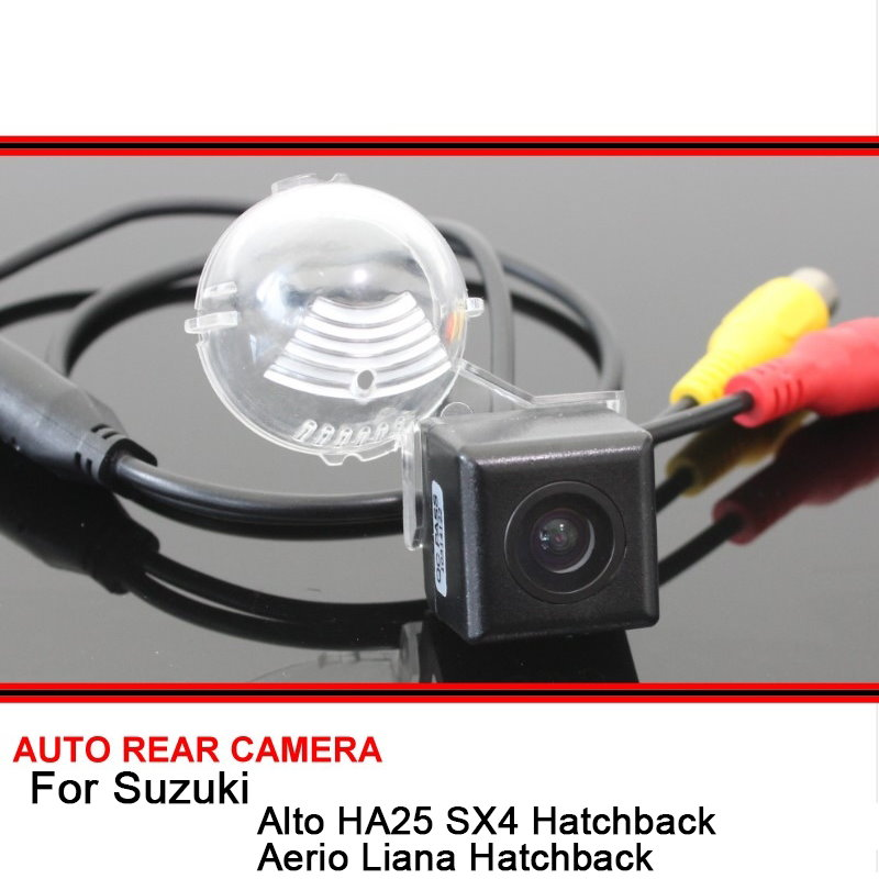 For Suzuki Alto SX4 Aerio Liana Hatchback Grand Vitara Night Vision Car Reverse Backup Rearview Parking Rear View Camera HD CCD