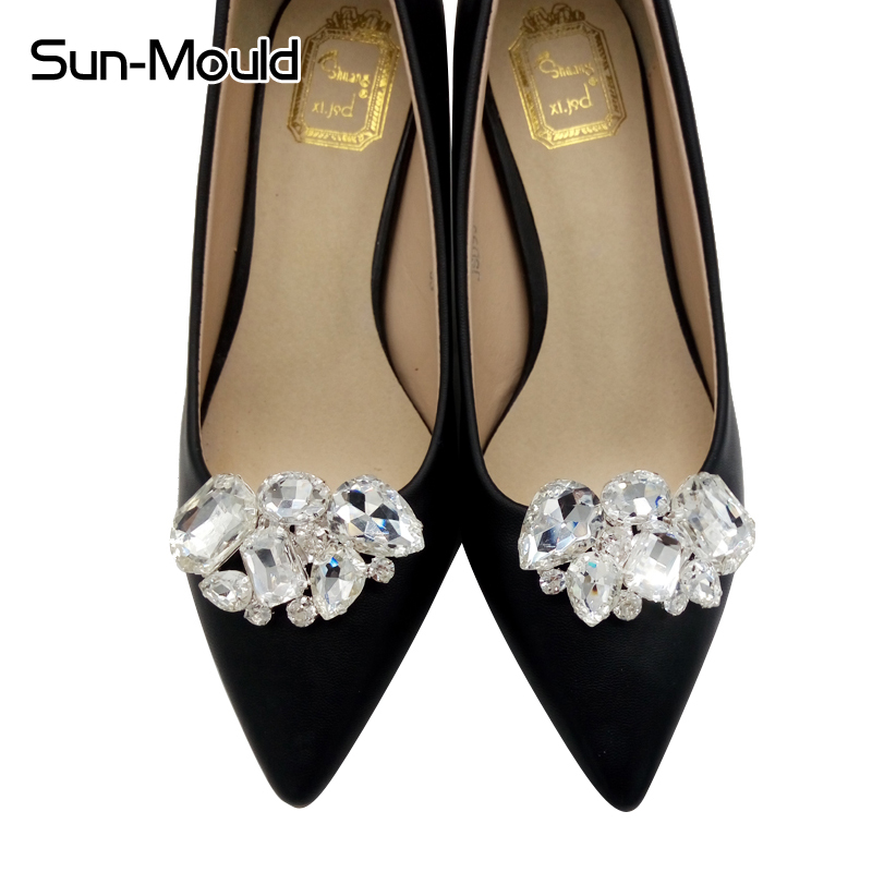 Schuhe Blume Kristall Diamant Schuhclips Mode Dekoration SchnalleIW