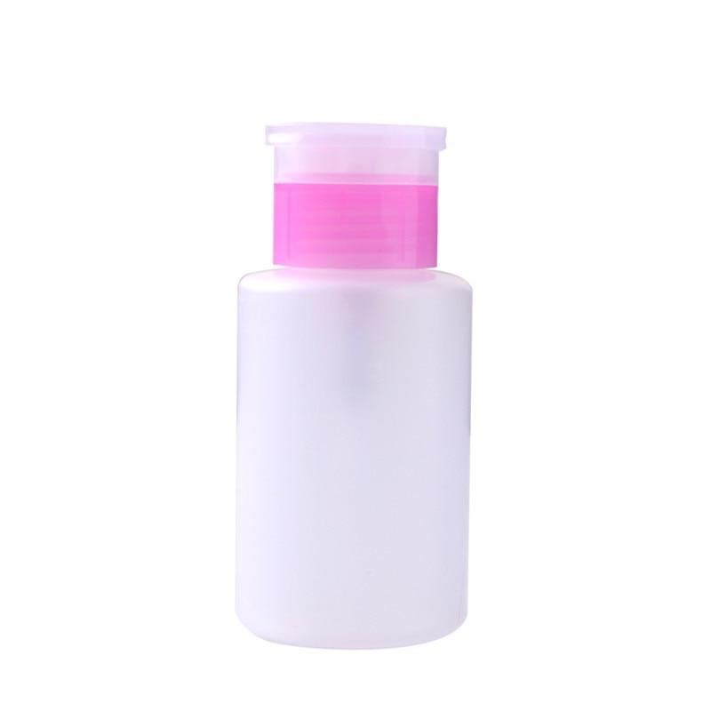 HNM 150ml Pink Empty Dispenser Pump Nail Art Polish Liquid Alcohol Remover Cleaner Bottle Makeup Equipment alcohol and liquid container bottle white 180ml