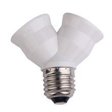 2 в 1 E27 Y Форма держатель лампы база огнестойкий материал держатель конвертер гнездо светильник разделитель ламп адаптер светильник держатель лампы