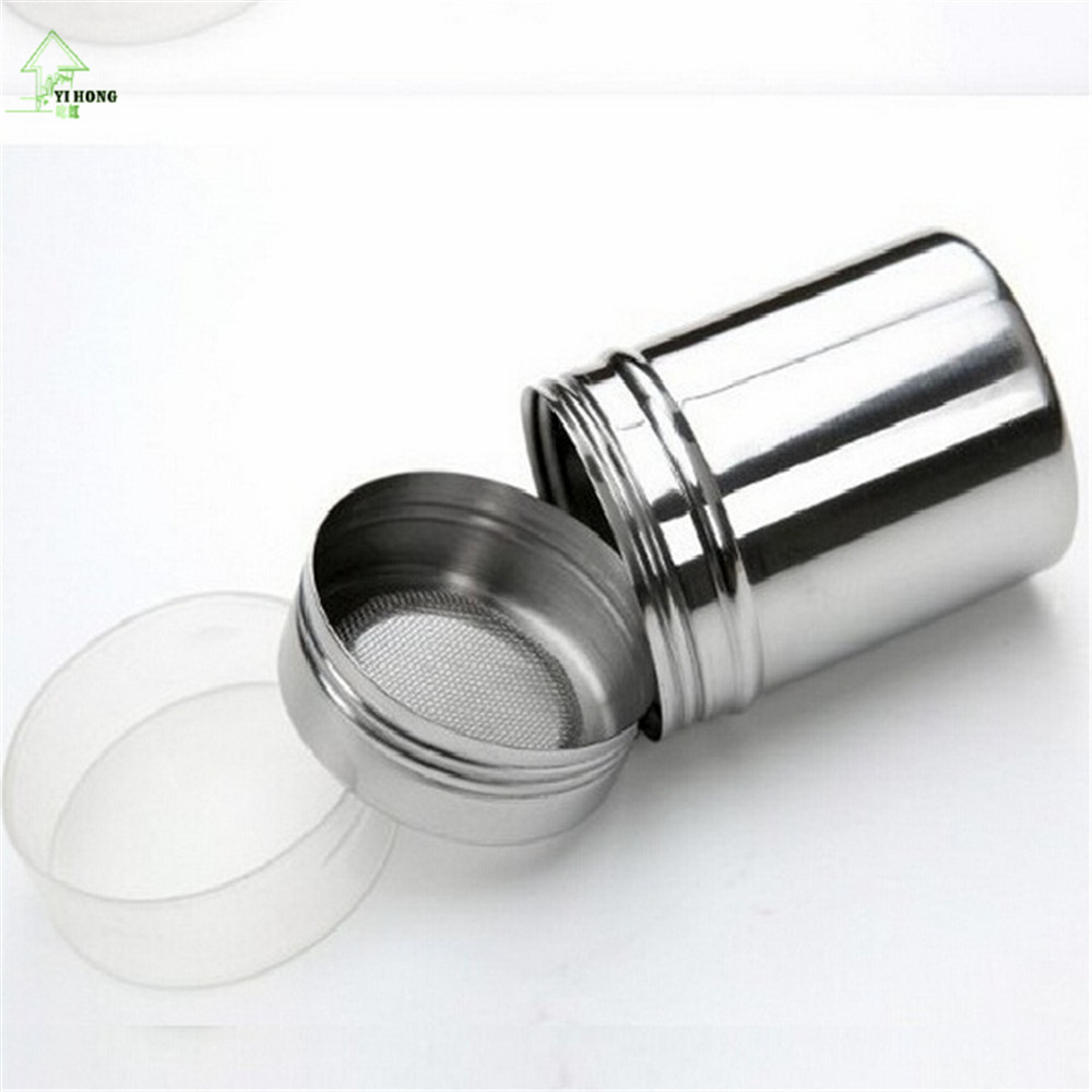 Yihong Stainless Steel Chocolate Shaker Garam Bubuk Kakao Tepung