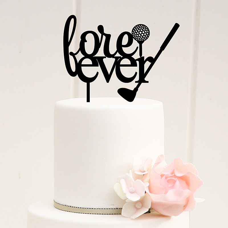 Golf Wedding Cake Topper Fore Ever Letter Silhouette Cake