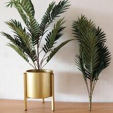 Большие 70 см шелковые искусственные бамбуковые Пальмовые Листья растительное дерево Свадебная мебель для дома и офиса бонсай декоративные растения в горшках