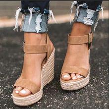 EOEODOIT/летние туфли-лодочки на танкетке; сандалии; Женская удобная обувь на высокой платформе и каблуке; босоножки на танкетке с открытым носком, увеличивающие рост; женская обувь размера плюс 10 см