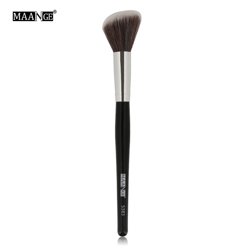 Image 4 - MAANGE 1Pc Angled Round Blush Makeup Brush Face Cheek Contour Blusher Nose Foundation Loose Power Cosmetic Make Up Brushes Tool-in Eye Shadow Applicator from Beauty & Health